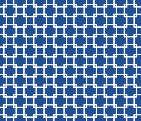 Lattice_navy fabric by walrus_studio on Spoonflower - custom fabric