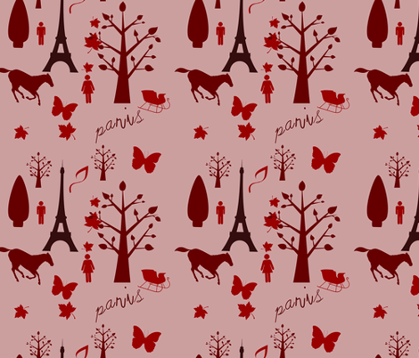 paris toile de jouy fabric by raasma on Spoonflower - custom fabric