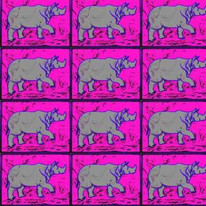 Rhino  - neon pink