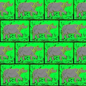 Rhino  - neon green