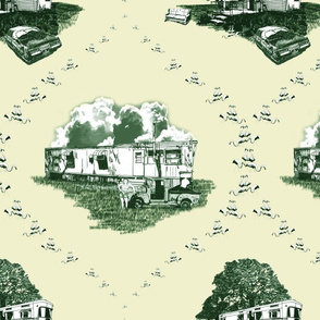 Trailer Trash Toile (Green & Yellow)