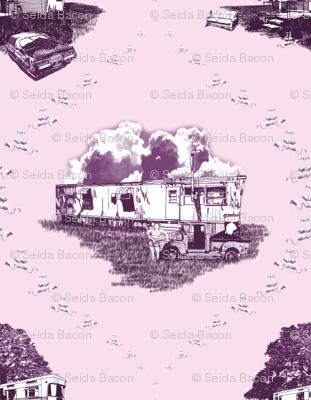 Trailer Trash Toile (Purple & Pink)