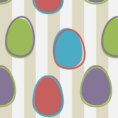 Eggstencialism_003 fabric by lowa84 on Spoonflower - custom fabric