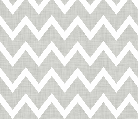 Grey_Linen_Chevron fabric by designedtoat on Spoonflower - custom fabric