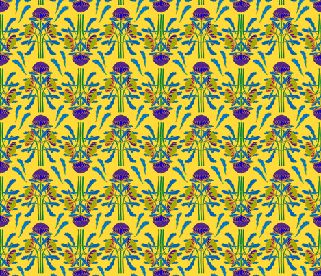Sunny waratahs for spring by Su_G fabric by su_g on Spoonflower - custom fabric