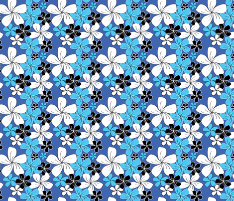 Blue Bouquet (small) fabric by jjtrends on Spoonflower - custom fabric