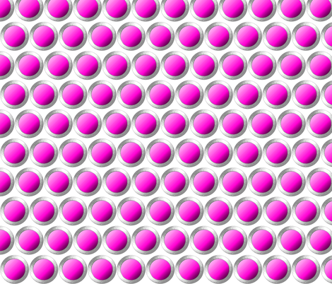 Magenta dots with silver lining. fabric by whimzwhirled on Spoonflower - custom fabric