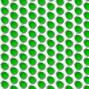Green dots in silver circle