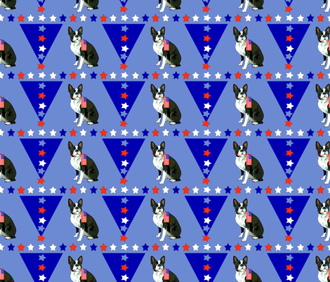 Boston terrier and stars fabric by dogdaze_ on Spoonflower - custom fabric