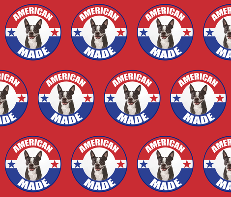 American_Made_Boston_terrier fabric by dogdaze_ on Spoonflower - custom fabric