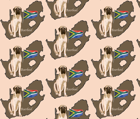 Boerboel Mastiff from South Africa fabric by dogdaze_ on Spoonflower - custom fabric