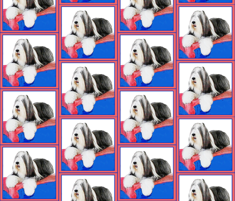 bearded_collie fabric by dogdaze_ on Spoonflower - custom fabric