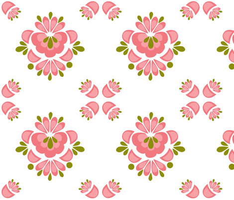 Matilda_Pink fabric by designedtoat on Spoonflower - custom fabric