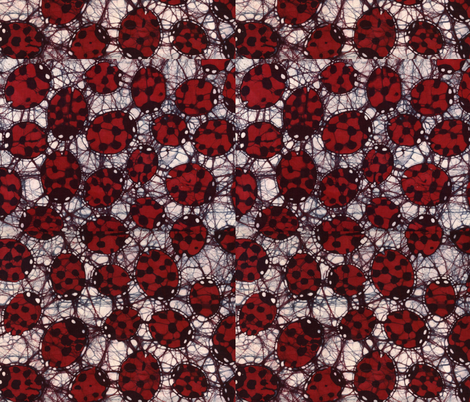Ladybugs, basic repeat fabric by hooeybatiks on Spoonflower - custom fabric