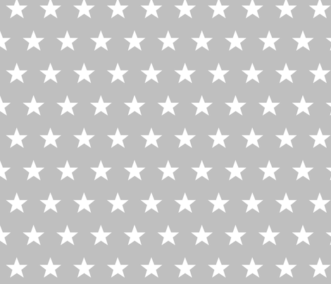 star grey fabric by katarina on Spoonflower - custom fabric