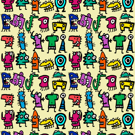 Little Monsters fabric by glanoramay on Spoonflower - custom fabric