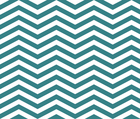 Medium Teal Chevron fabric by mgterry on Spoonflower - custom fabric