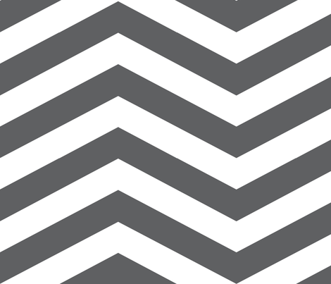 Grey and White Chevron fabric by mgterry on Spoonflower - custom fabric