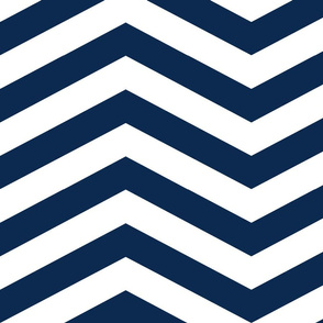 Medium Navy Chevron
