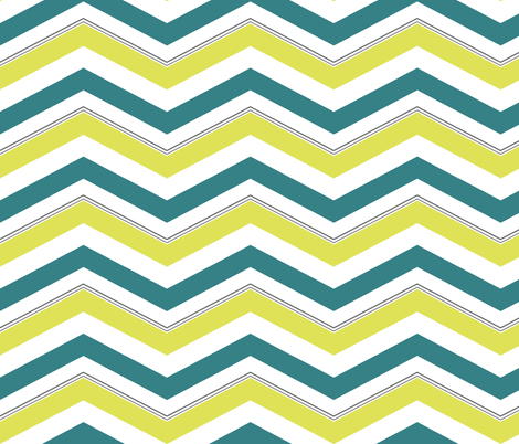 Mellow Spring Chevron fabric by mgterry on Spoonflower - custom fabric