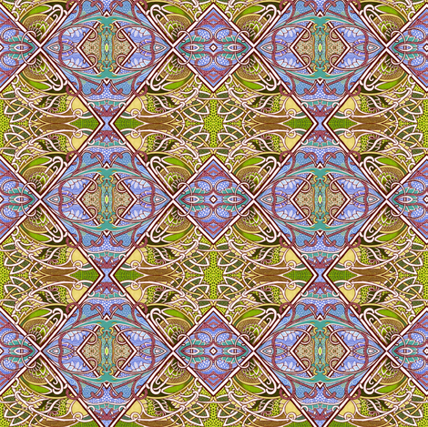 Land of the Rising Bamboo fabric by edsel2084 on Spoonflower - custom fabric