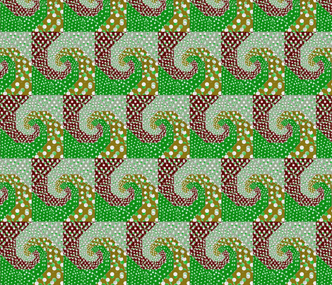 snails_trail_quilt_bright_retro_colors fabric by vinkeli on Spoonflower - custom fabric