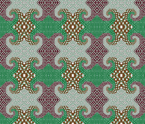 snails_trail_quilt_retro_colors fabric by vinkeli on Spoonflower - custom fabric