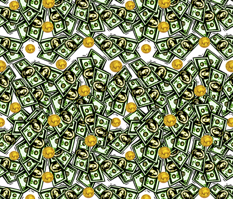 Made Of Money fabric by whimzwhirled on Spoonflower - custom fabric
