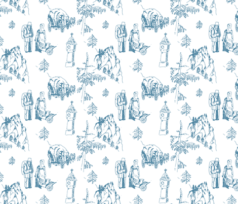 Schottwien_Toile_de_Jouy fabric by lilliblomma on Spoonflower - custom fabric