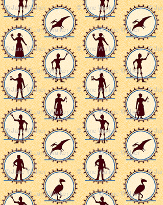 Steampunk Character Silhouettes -- Miniature version  ©2012 by Jane Walker