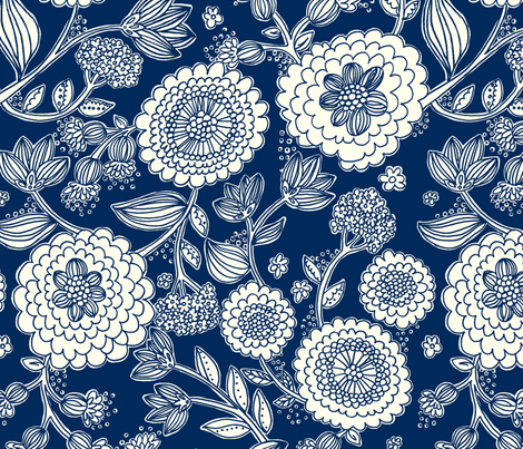 Flower_Fun_Yellow fabric by stacyiesthsu on Spoonflower - custom fabric