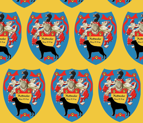 Rottweiler Coat Of Arms fabric by dogdaze_ on Spoonflower - custom fabric