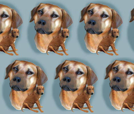 RHODESIAN_RIDGEBACK_ fabric by dogdaze_ on Spoonflower - custom fabric