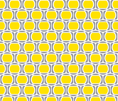 Zeke's Pattern - Yellow & Gray fabric by dianef on Spoonflower - custom fabric