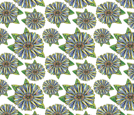 Georgena Rose fabric by papermoonpatterns on Spoonflower - custom fabric
