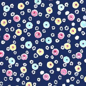 Vintage Ditzy Dots - Blue