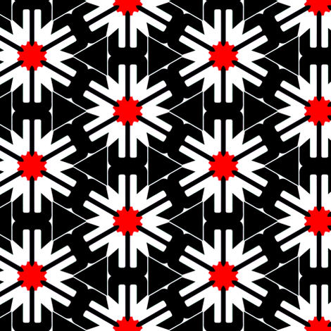 White Flowers on Black fabric by stoflab on Spoonflower - custom fabric