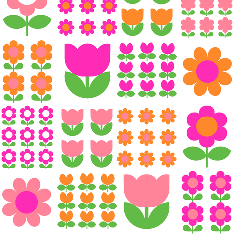 flower_patch_pink fabric by aliceapple on Spoonflower - custom fabric