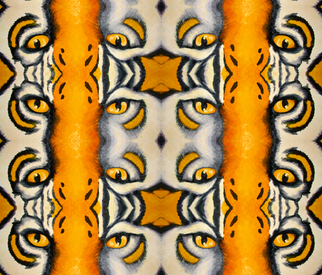 tiger eyes fabric by krs_expressions on Spoonflower - custom fabric