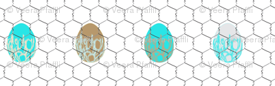 chickenwire with eggs