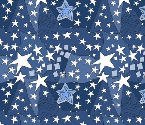 Stars constellation fabric by luckyrobin on Spoonflower - custom fabric