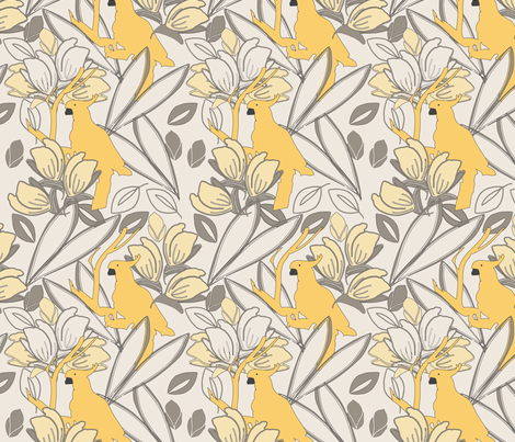 Cockatoo Yarrow fabric by leeandallandesign on Spoonflower - custom fabric