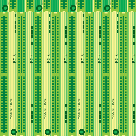 green memory board fabric by mariao on Spoonflower - custom fabric