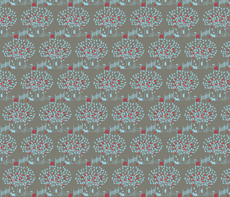 Under the apple tree fabric by leeandallandesign on Spoonflower - custom fabric