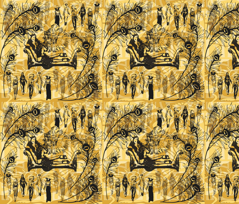 London's Biba fabric by kociara on Spoonflower - custom fabric