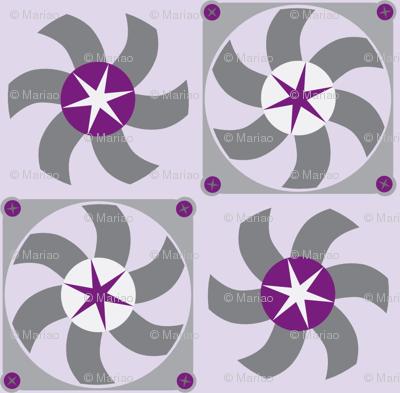 violet fans