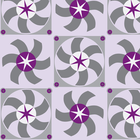 violet fans fabric by mariao on Spoonflower - custom fabric