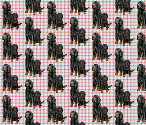 Gordon setter Mom and Pup fabric by dogdaze_ on Spoonflower - custom fabric