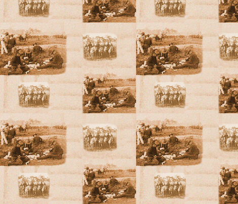 Arizona Rough Riders fabric by galinaz on Spoonflower - custom fabric