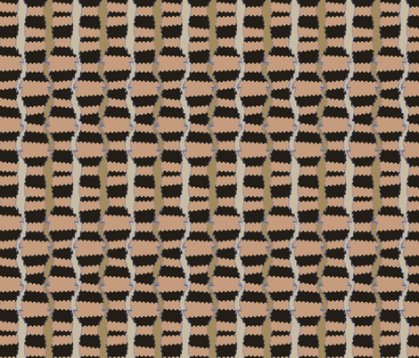Ebony and Clay (Terra Cotta) fabric by david_kent_collections on Spoonflower - custom fabric